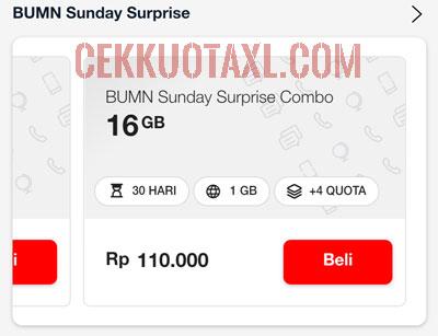 BUMN Sunday Surprise Combo 16GB 1