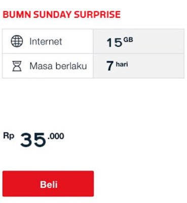 Weekly Sunday Surprise 15GB
