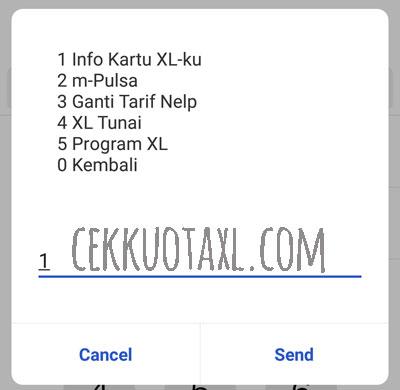 Cara Cek Nomor XL Dengan Kode Dial 3