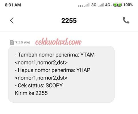 Cara Daftar SMS Copy Telkomsel 4