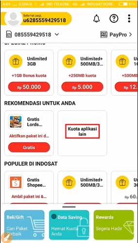 Cara Mendapatkan Kuota Gratis Indosat Ooredoo 7GB 30 Hari