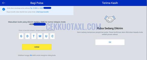 Cara Transfer Pulsa XL dengan Aplikasi myXL