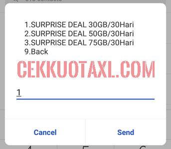 Cara membeli paket internet surprise deal 30GB dengan UMB 2