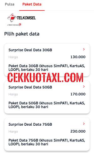 Cara membeli surprise deal 30GB dengan Aplikasi LinkAja 3