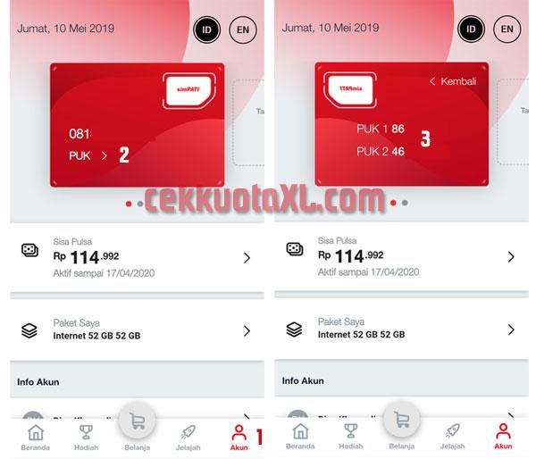 Cara mengetahui kode PUK pada aplikasi MyTelkomsel