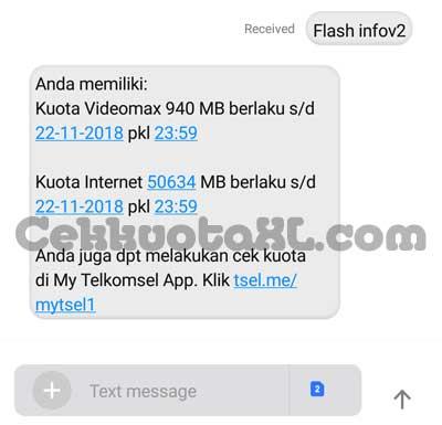Cek Kuota Internet Melalui SMS Flash