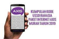 Kumpulan Kode USSD Rahasia Paket Internet Axis Murah Tahun 2019