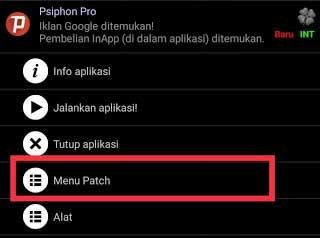 Menu patch lucky patcher