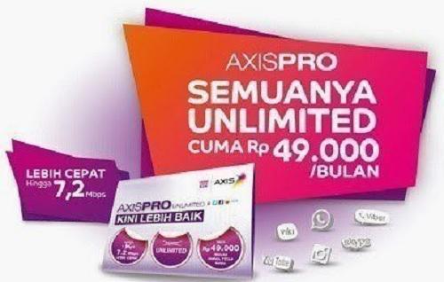 Paket Internet Axis Unlimited Tanpa Kuota Terbaru 2018