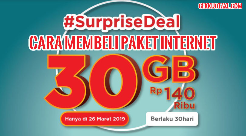 Paket Internet Surprise Deal 30GB Telkomsel