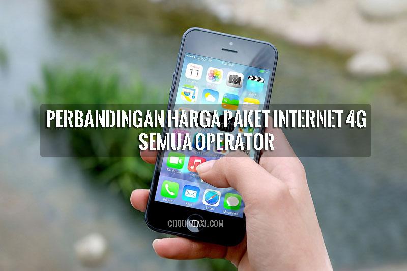 Perbandingan Harga Paket Internet 4G Semua Operator