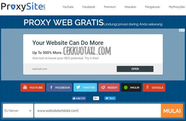 Cara menghilangkan internet positif ProxySite