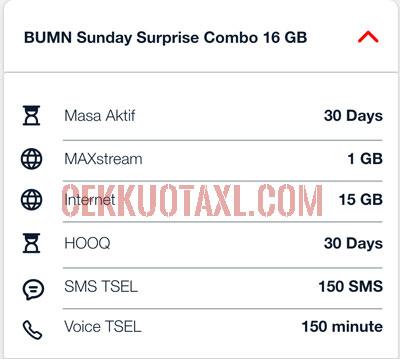 Spesifikasi BUMN Sunday Surprise Combo 16GB