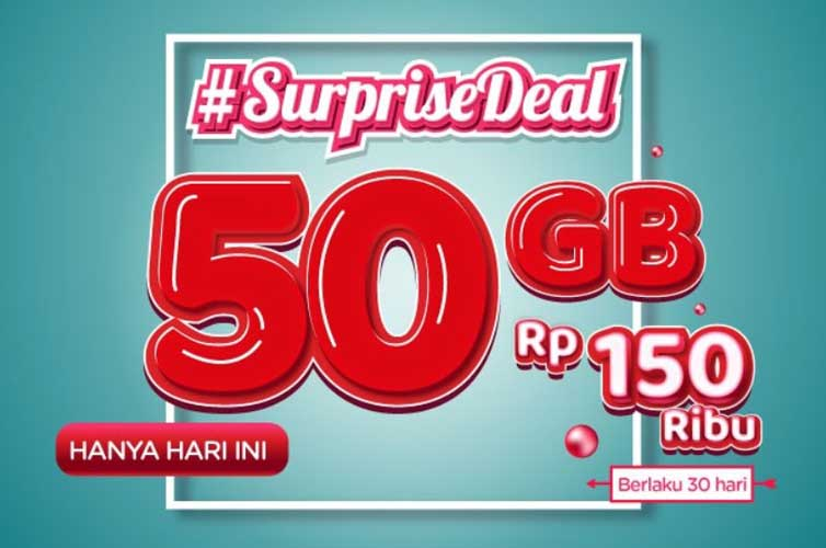 Paket Weekend Deal 25GB Dan Surprise Deal 50GB Telkomsel