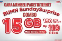 Paket internet BUMN Sunday Surprise Combo 16GB