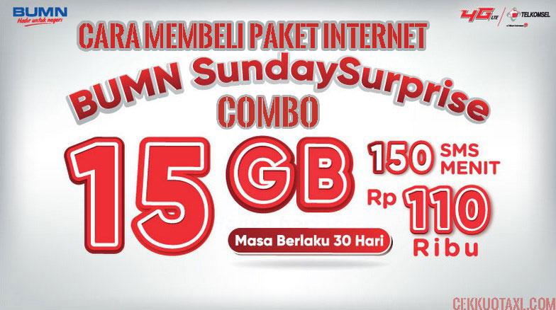 Paket internet BUMN Sunday Surprise Combo 16GB