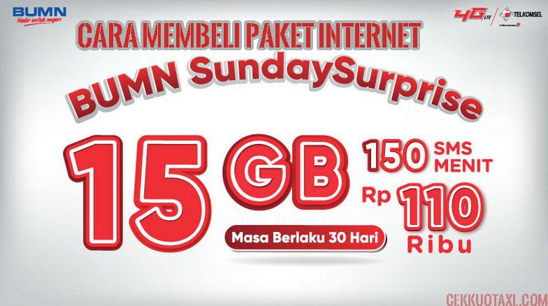 BUMN SundaySurprise 15GB Combo