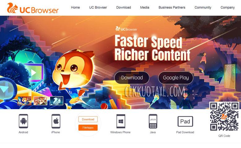 Cara menghilangkan internet positif UC browser