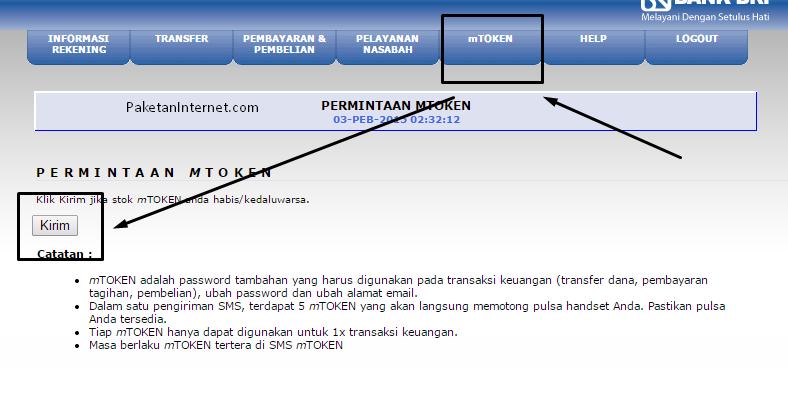 cara daftar internet banking BRI_beli pulsa_1
