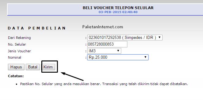 cara daftar internet banking BRI_beli pulsa_2
