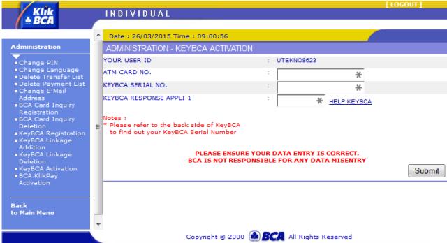 cara daftar internet banking bca_aktivasi keybaca