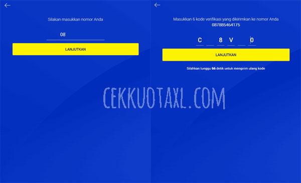 cek kuota XL dengan web 2
