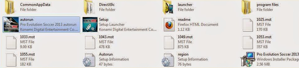 cara instal PES 2013 folder file