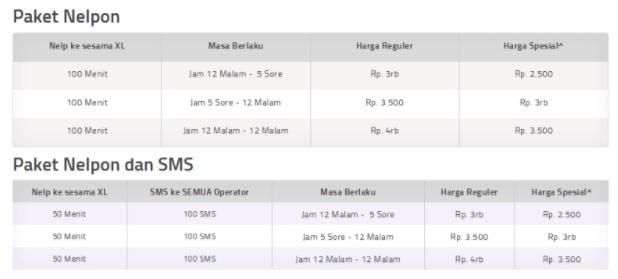 Paket Nelpon dan SMS Murah XL paket super serbu