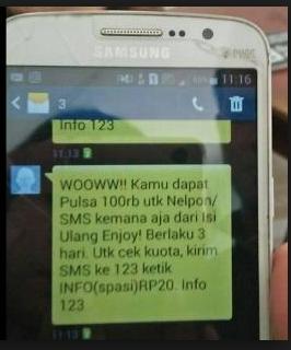 gambar pemberitahuan SMS