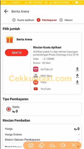 √ Cara Mendapatkan Kuota Gratis Indosat Ooredoo 7GB 30 Hari