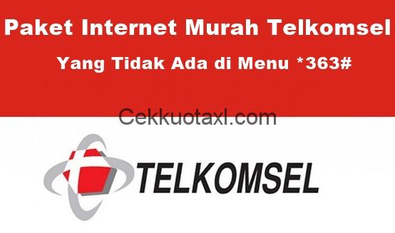 Paket Internet Murah Telkomsel yang Tidak Ada di Menu