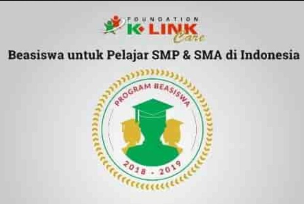 Beasiswa sekolah K-Link Foundation