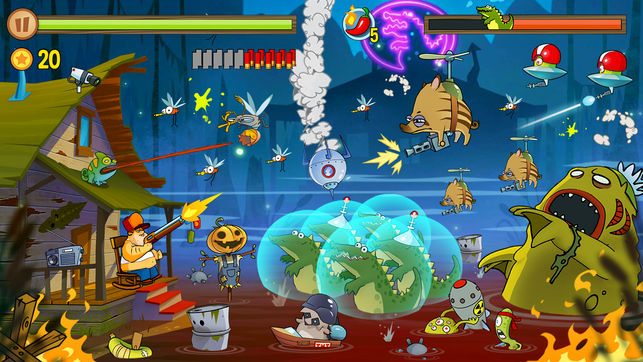 game android offline terbaik Swamp Attack