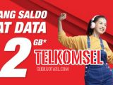 Paket kuota Internet gratis 2GB Telkomsel Dari LinkAja
